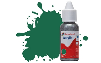 Humbrol Acrylic - No30 Dark Green - Matt