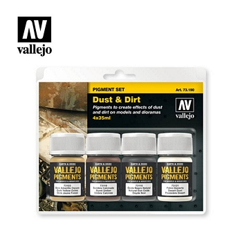 Vallejo Pigment 73190 Dust & Dirt Set