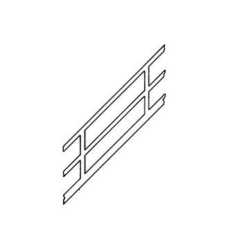 Plastruct SRS-16 90695 Stair Rail 1:24 Scale