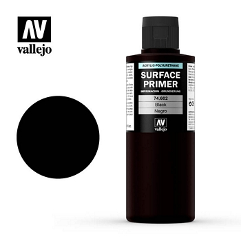 Vallejo Surface Primer – 74602 Black 200ml