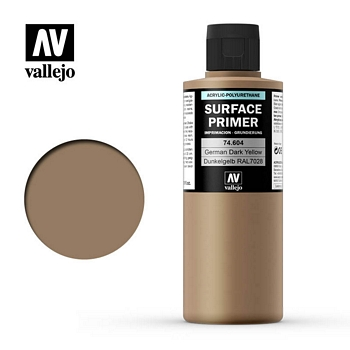 Vallejo Surface Primer – 74604 German Dark Yellow 200ml