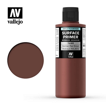 Vallejo Surface Primer – 74605 German Red Brown 200ml