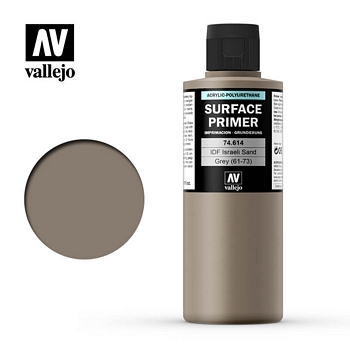 Vallejo Surface Primer – 74614 IDF Israeli Sand Grey 61-73 200ml