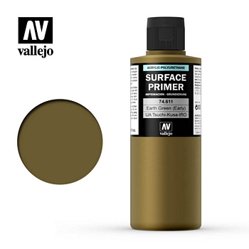 Vallejo Surface Primer – 74611 Earth Green (Early) 200ml