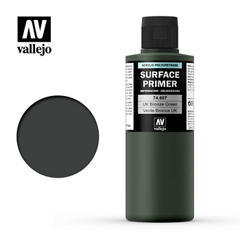 Vallejo Surface Primer – 74607 UK Bronze Green 200ml