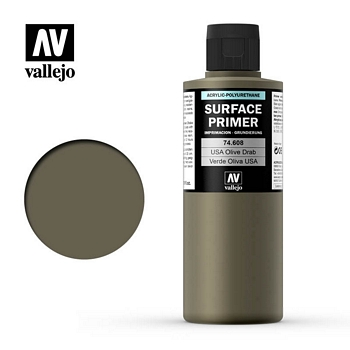 Vallejo Surface Primer – 74608 US Olive Drab 200ml