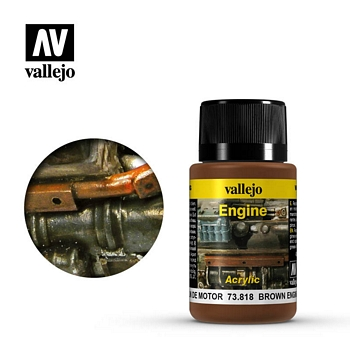 Vallejo Weathering Effects - Brown Engine Soot 40ml